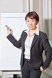 Business woman doing presentation. A business woman is doing presentation Royalty Free Stock Photography