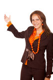 Business woman doing a presentation Royalty Free Stock Image