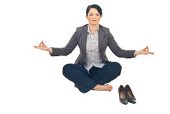 Business woman doing yoga Stock Photography