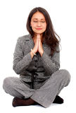 Business woman doing yoga Royalty Free Stock Images