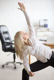 Business Woman Doing Yoga Exercise Royalty Free Stock Photo