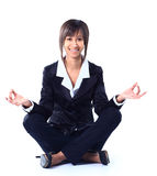 Business woman doing yoga. Stock Photography