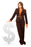 Business woman with dollar Stock Image