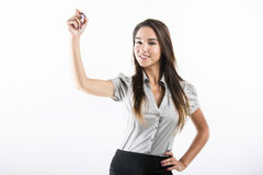Business woman drawing Stock Image
