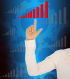 Business woman drawing a graph Royalty Free Stock Photo