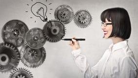 Business woman drawing Stock Photo