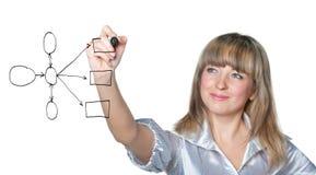 The business woman draws felt pen Stock Images