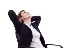 Business woman dreaming Royalty Free Stock Images