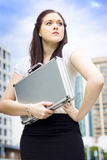 Business Woman With Dreams Aspirations And Goals Stock Images