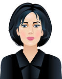 Business woman. The woman dressed in a black suit royalty free illustration