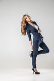 Business woman dressed in business clothes royalty free stock image