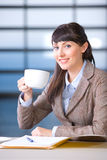 Business Woman drinking Coffee Stock Photography