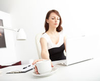 Business woman drinking coffee Royalty Free Stock Photo