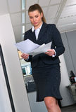 Business woman with ducuments Stock Image