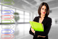 Business woman efficiency Royalty Free Stock Image
