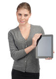 Business woman with electronic tablet Royalty Free Stock Photos