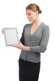 Business woman with electronic tablet Stock Image