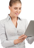 Business woman with electronic tablet Stock Images