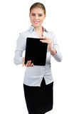Business woman with electronic tablet Stock Photography