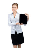 Business woman with electronic tablet Royalty Free Stock Images