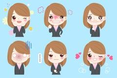 Business woman emoji set Stock Photo