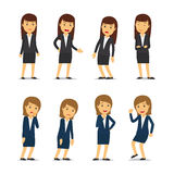 Business woman emotions Stock Image