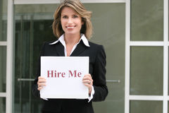 Business Woman: Employment, For Hire Royalty Free Stock Photo