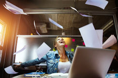 Business woman enjoy her work. Business woman enjoy her work Stock Images