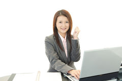 Business woman enjoying success Stock Images