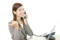 Business woman enjoying success Stock Photo