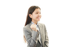 Business woman enjoying success Stock Photo