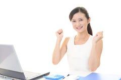 Business woman enjoying success Royalty Free Stock Photo