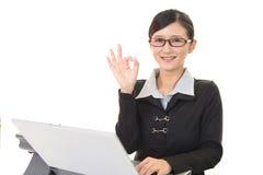 Business woman enjoying success Royalty Free Stock Image