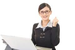 Business woman enjoying success Stock Photos