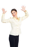 Business woman enjoys the achievements Royalty Free Stock Photos
