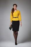 Business woman evening makeup clothes for meetings and walks Stock Photos