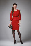 Business woman evening makeup clothes for meetings and walks Royalty Free Stock Photography