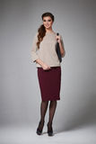 Business woman evening makeup clothes for meetings and walks Stock Photo