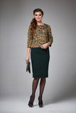 Business woman evening makeup clothes for meetings and walks Royalty Free Stock Photo