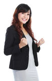 Business woman excited Royalty Free Stock Images