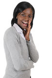 Business woman excited and shouting Stock Images