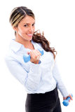 Business woman exercising Royalty Free Stock Image