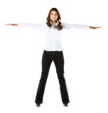 Business woman with extended arms Stock Photography