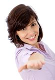 Business woman extending her hand Stock Photography