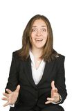 Business woman extremely stressed Stock Images