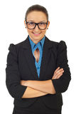 Business woman with eyeglasses Royalty Free Stock Images