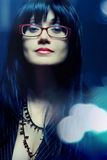 Business woman in eyeglasses royalty free stock image