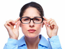 Business woman with eyeglasses . Royalty Free Stock Photography