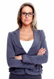 Business woman with eyeglasses. Stock Photos
