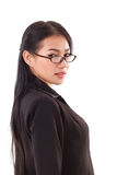 Business woman with eyeglasses Stock Photography